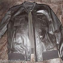 Zara Leather Jacket 100% Genuine Leather Photo