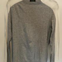 Zara Long Sleeve Two-Tone Knit Top Grey & White Size L Photo
