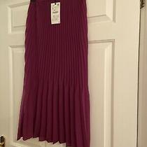 Zara Magenta Purple Pleated Midi Skirt Size S Trinny Photo