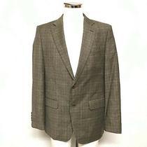 Zara Man Blazer Jacket Uk 42 Men's Brown Check Patterned Wool Smart Work 461592 Photo