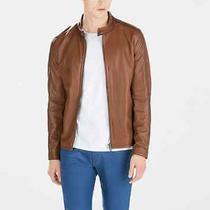 Zara Man Brown Microperforated Faux Leather Jacket / h&m Express Banana Republic Photo