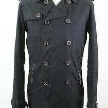 Zara Man Double Breasted Trench Coat Size L   Photo