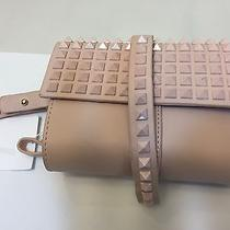 Zara Mini Studded Party Clutch Purse Bag Blush Pink Leather Nwt Photo
