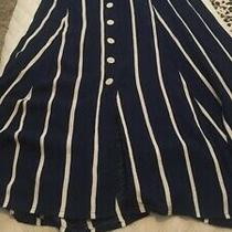 Zara Navy Striped Shirt Dress Size Xxl (Rrp 49.99) Size 16 Uk Photo