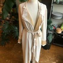 Zara New Ecru Limited Edition Semi-Sheer Matching Coat Kimono 7871/706 Large L Photo