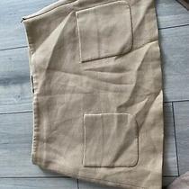 Zara Nude/beige Short Skirt Large 14 Photo