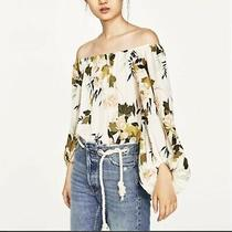 Zara Off the Shoulder Floral Bodysuit  Top and Skirt Sz Xs Madrwell Photo