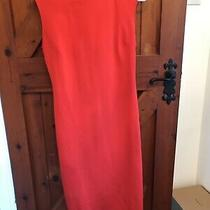 Zara Orange Tube Midi Dress Size Medium Photo