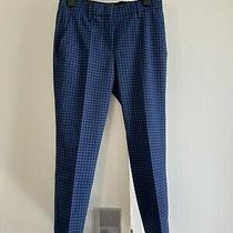 Zara Pants Size 36 Plaid Black and Blue.  Photo