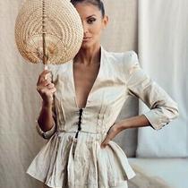 Zara Peplum Blazer Size S 8 Photo