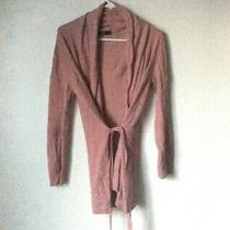 Zara Pink Cardigan / Sweater Jacket Size Small Mauve Blush Photo