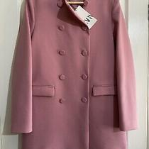 Zara Pink Frock Coat Blazer Jacket With Covered Buttons Size S 60's Photo