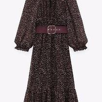 Zara Printed Midi Dress With Belt Size Xxl (Rrp 49.99) Photo