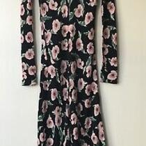 Zara Printed Midi Long Dress Size S 8 Photo