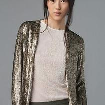 Zara Printed Sequinned Cardigan Limited Edition Sequin Blazer Small - S Photo
