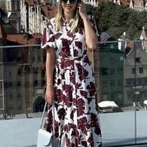 Zara Printed Shirt Dress With Belt Size M Photo