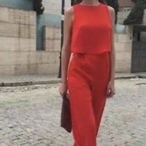 Zara Red Jumpsuit Photo