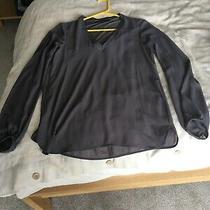 Zara Sheer Grey Blouse Top Size Xs Photo