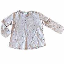 Zara Size 12-18 Months Lavender Bow Printed Top Photo