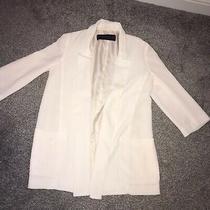 Zara Size Xs 6 - 8 White Blazer Bnwot  Free Postage Photo