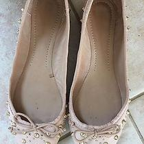 Zara Studded Leather Ballet Flats in Blush Nude Size (Women's) 37 Photo