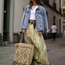 Zara Tie Dye Frilled Midi Skirt. Size Xs 6 S 8 Rrp 50 Photo