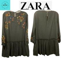 Zara Trafaluc Collection Embroidered Tunic Dress Small Photo