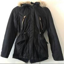 Zara Trafaluc Outerwear Coat Faux Fur Size Xs Photo