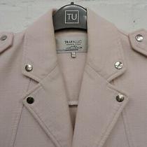 Zara Trafaluc Pink Jacket Popper Close Zip Cuff Size Xs Photo