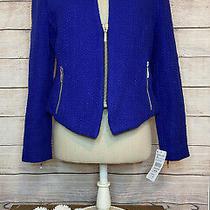 Zara Trafaluc Purple Career Jacket Womens Size M 10/12 Zip Front Blazer Top Photo