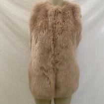 Zara Trf Outerwear Size Medium Blush Pink Faux Fur Vest Photo