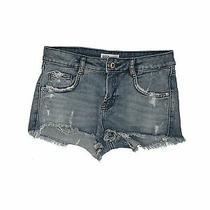 Zara Trf Women Blue Denim Shorts 2 Photo