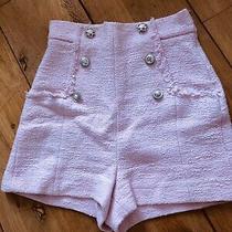 Zara Tweed Chanel Shorts High Waist Size Small  Photo