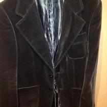 Zara Velvet Brown Jacket Blazer Eu 48 Photo