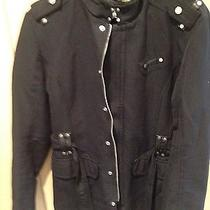 Zara Very Cool Military Jacket Black  Size M Photo