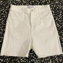 Zara White Jeans Shorts Size 38 Photo