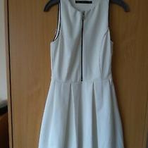 Zara White Mini Dress Sleeveless Size Xs 8 - 10 Photo