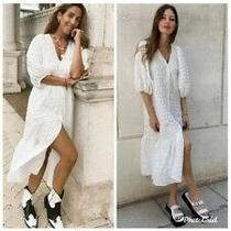 Zara White Textured Dress Size Small Bnwt Photo