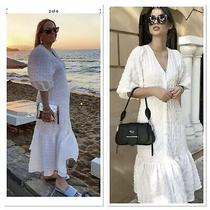Zara White Textured Dress Size Xl  Bnwt Size 16 18 Photo