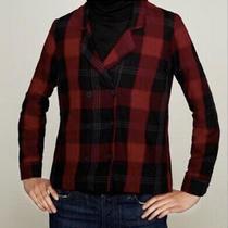 Zara Woman Checked Red Black Blazer Style Summer Shirt Uk Size M  Photo