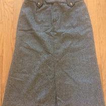 Zara Woman Gray Wool Blend Skirt Size Us 4 Euro 36 Photo