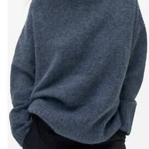 Zara Woman Oversized Blue Marl High Neck Knit Sweater Uk - Size M-L Photo