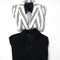 Zara Woman Womans Printed Long Sleeve One Button Blazer White Size Xs S Lot 2 Photo