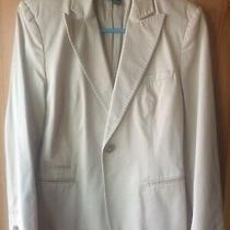 Zara Women Fitted Cotton Jacket/blazer Lapels Size M 10/12 Uk Excellent Cond Photo