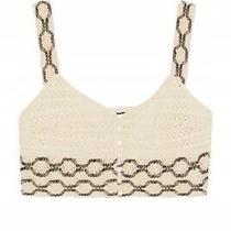 Zara Women's Beige Crochet Crop Top Size 10/m Bnwt Photo