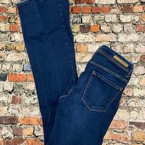 Zara Women's Size 4 Blue Denim Low Rise Flare Stretch Jeans Bb35 Photo