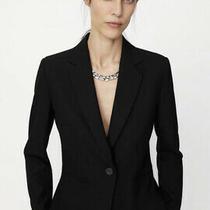 Zara Womens Ladies Blazer Suit Jacket Coat Black Bnwt Size 8 Small Tailored Photo