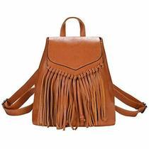 Zebella Leather Backpack Purse for Women Tassel Casual Rucksack Lightweight Hobo Photo