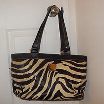 Zebra Print Dooney & Bourke Safari Tote Photo