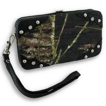 Zeckos Forest Camouflage Iphone 5/5s Wallet Wristlet With Mock Croc Trim Photo